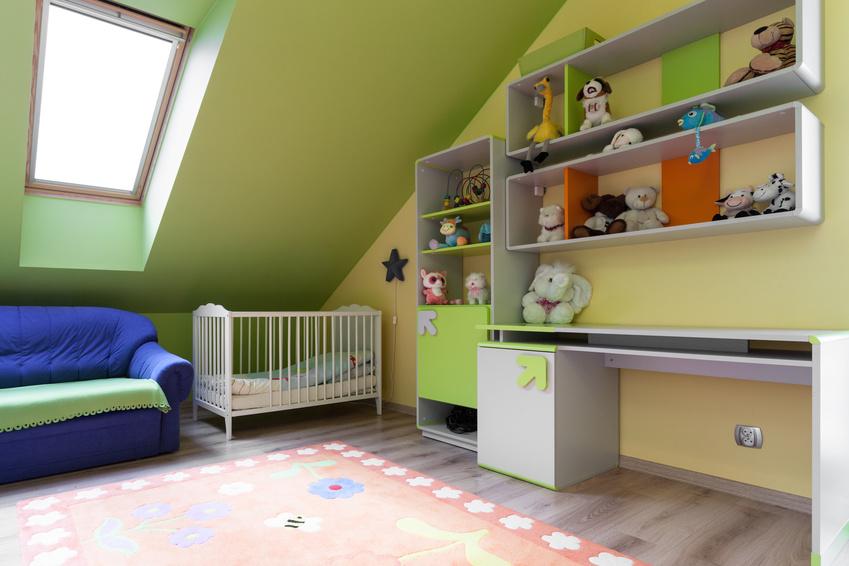 Kinderzimmer mit Dachschräge kreativ einrichten - families-base.de ...